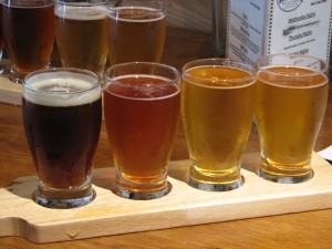 beer tasting at Aviator Brewing Co.