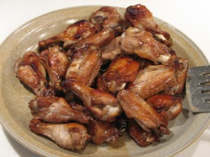 teriyaki tip-off wings from 'fan fare'