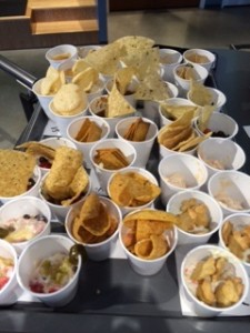 one tray of samples in the dip contest